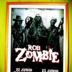 Coleccionismo de carteles: CARTEL DE GIRA DE CONCIERTO DE - ROB ZOMBIES -2001.BARCELONA Y MADRID. Lote 48199774