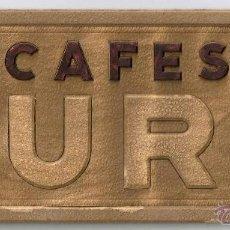 Coleccionismo de carteles: CARTEL PUBLICIDAD RELIEVE TROQUELADO SOBRE CARTON. CAFES JURA DECORACION BAR BARCELONA. Lote 48222823