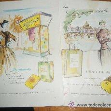 Collectionnisme d'affiches: HENO DE PRAVIA. LOTE DE 7 ANUNCIOS PUBLICITARIOS... Lote 21318726