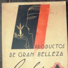 Coleccionismo de carteles: CARTEL PUBLICIDAD PRODUCTOS DE BELLEZA RELY . CARTÓN DURO 30 / 20 CM . Lote 48338496