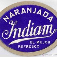 Coleccionismo de carteles: CARTEL PUBLICIDAD CARTON NARANJADA INDIAM LETRAS TROQUELADO Y RELIEVE DECORACION BAR BARCELONA. Lote 48361102