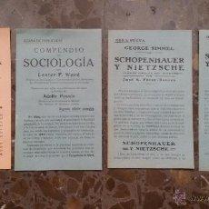 Coleccionismo de carteles: 4 ANUNCIOS EN PAPEL PRINCIPIOS DE SIGLO XX. NUEVAS OBRAS LITERARIAS. APARECIDOS EN UN LIBRO DE 1910.. Lote 48481019