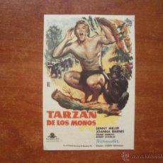 Colecionismo de cartazes: FOLLETO DE MANO PROGRAMA PROSPECTO DE CINE PELICULA , TARZAN DE LOS MONOS. Lote 48542106