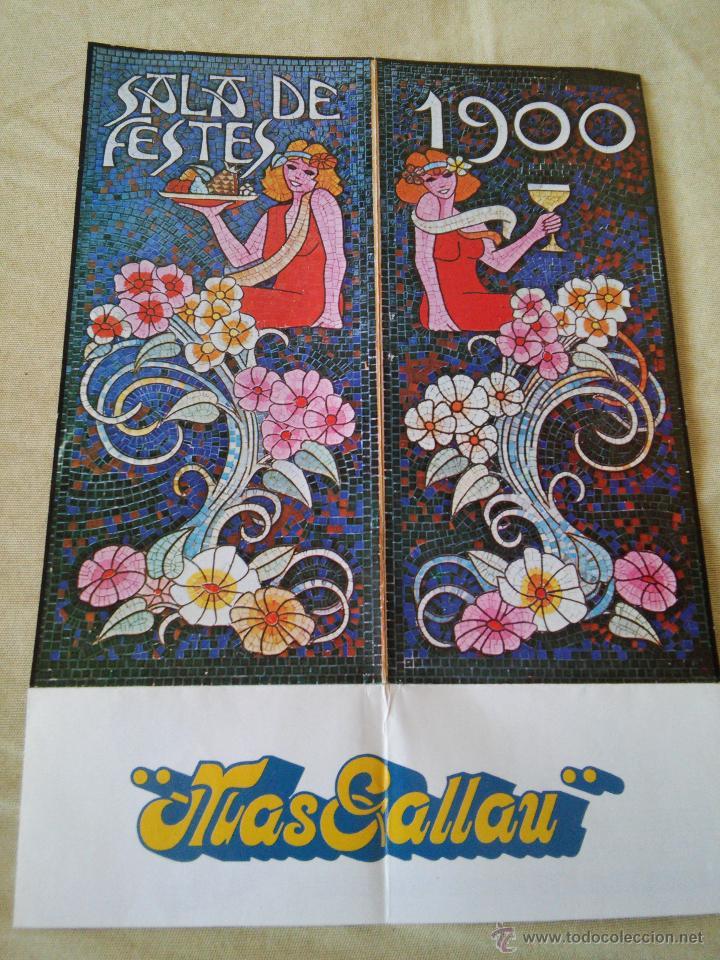 MAS GALLAU - SALA DE FIESTAS 1900 - (Coleccionismo - Carteles Pequeño Formato)