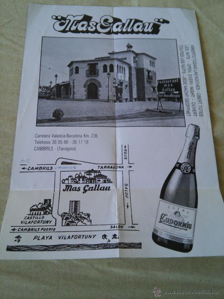 Coleccionismo de carteles: MAS GALLAU - SALA DE FIESTAS 1900 - - Foto 2 - 48745191