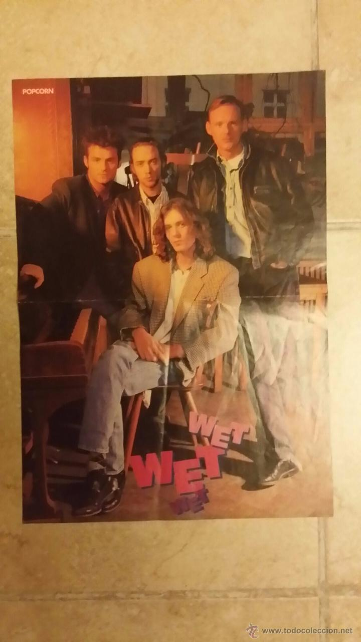 Coleccionismo de carteles: poster de bon jovi y wet wet - popcorn - tamaño 28x41 cm - Foto 2 - 49003551