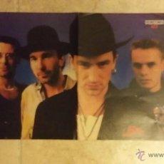 Coleccionismo de carteles: POSTER DE U2 Y BERTIN OSBORNE- POPCORN - TAMAÑO 41X29 CM. Lote 49063156