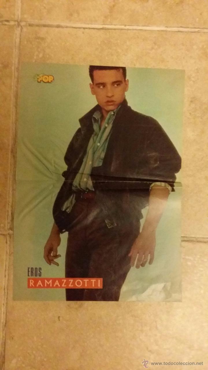 Coleccionismo de carteles: poster david summers y eros ramazzotti - super pop - tamaño 26x38 cm - Foto 2 - 49101424