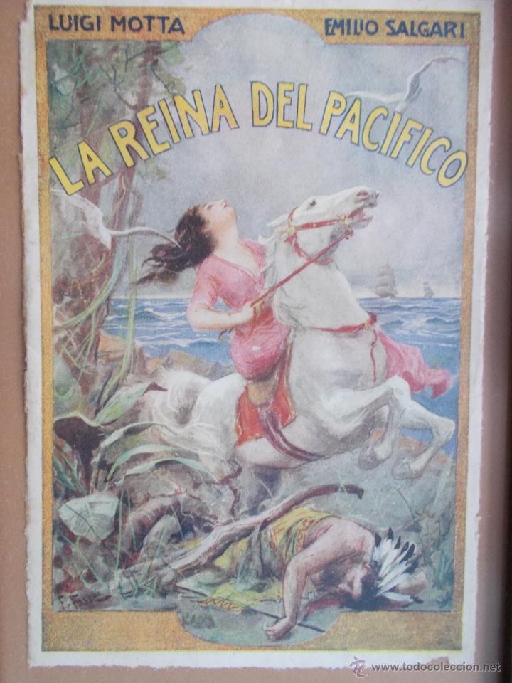 CARTEL MODERNISTA SALGARI LA REINA DEL PACÍFICO, ART DECÓ, ART NOUVEAU (Coleccionismo - Carteles Pequeño Formato)
