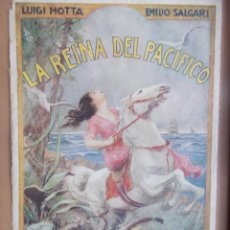Coleccionismo de carteles: CARTEL MODERNISTA SALGARI LA REINA DEL PACÍFICO, ART DECÓ, ART NOUVEAU. Lote 49252532