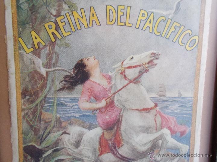 Coleccionismo de carteles: CARTEL MODERNISTA SALGARI LA REINA DEL PACÍFICO, ART DECÓ, ART NOUVEAU - Foto 2 - 49252532