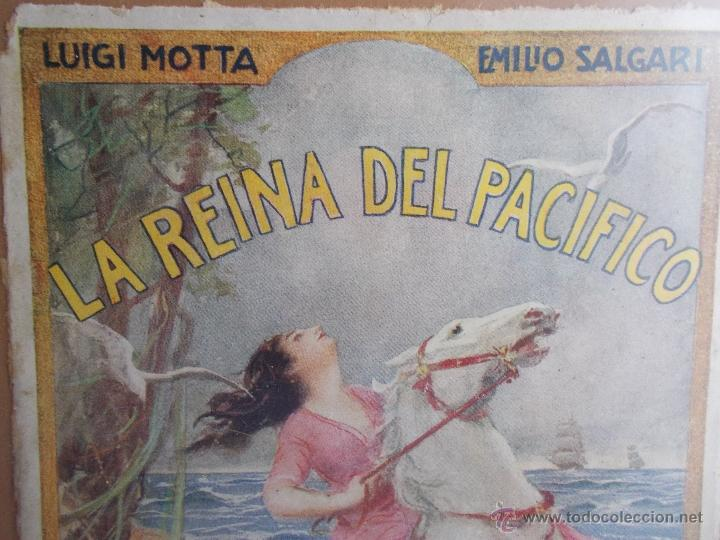 Coleccionismo de carteles: CARTEL MODERNISTA SALGARI LA REINA DEL PACÍFICO, ART DECÓ, ART NOUVEAU - Foto 4 - 49252532