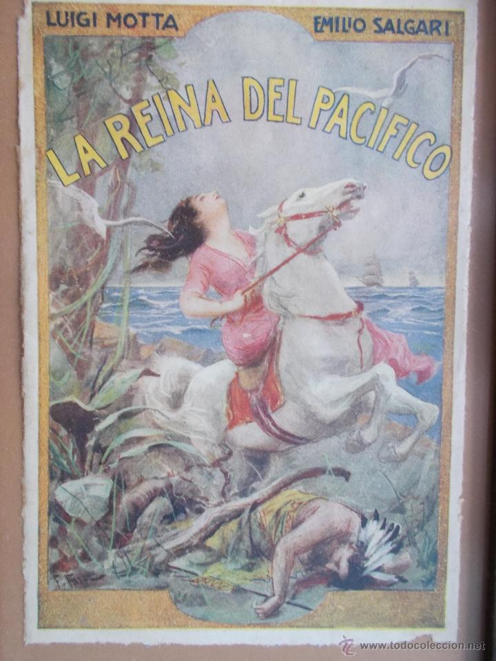 Coleccionismo de carteles: CARTEL MODERNISTA SALGARI LA REINA DEL PACÍFICO, ART DECÓ, ART NOUVEAU - Foto 7 - 49252532