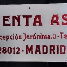 Coleccionismo de carteles: IMPRENTA ASPAS MADRID CARTEL DE PUBLICIDAD DE CARTON. Lote 49764237