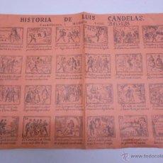 Colecionismo de cartazes: ALELUYA. CARTEL DE LAS CUEVAS DE LUIS CANDELAS MADRID. BANDOLERISMO.ORIGINAL AÑOS 60. 35X24,5 CMS. Lote 49911324