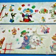 Coleccionismo de carteles: MINI POSTER / LAMINA - CIRCO / PAYASO - COL. DE 2 - Nº 9 - IL. VERNET - ED. CYZ - VER FOTO -AÑO 1964. Lote 49956378