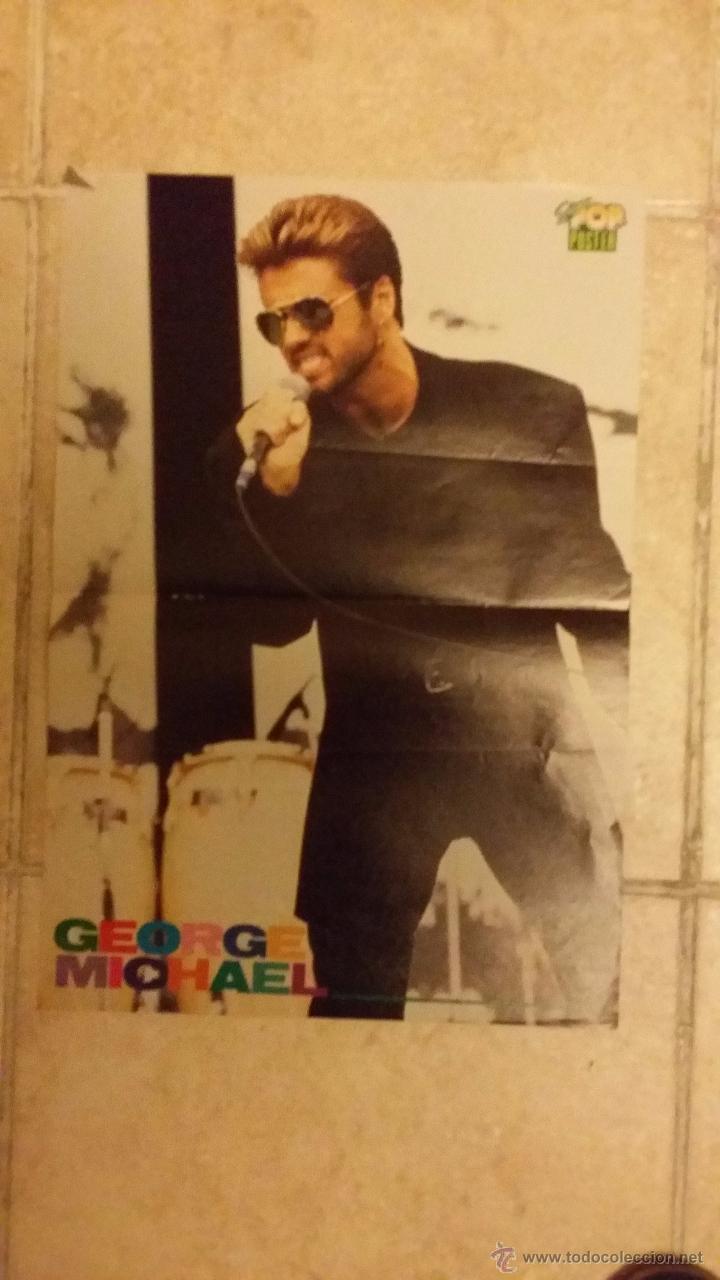 Coleccionismo de carteles: Doble poster, Rick Asley y George Michael de la revista Super Pop. Tamaño 42x29 cm - Foto 2 - 50165146
