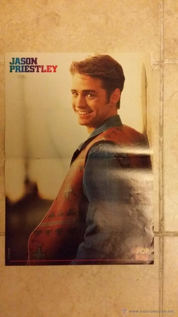 Coleccionismo de carteles: Doble poster, New Kids y Jason Priestley de la revista Super Pop. Tamaño 42x29 cm - Foto 2 - 50165155