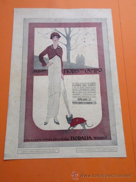 PUBLICIDAD 1915 - COLECCION PERFUMES - FLORES DEL CAMPO - TRASEAR LOINAZ SAN SEBASTIAN (Coleccionismo - Carteles Pequeño Formato)