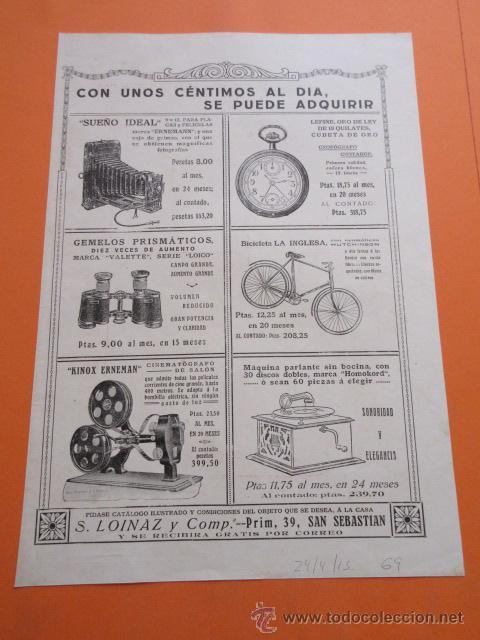 Coleccionismo de carteles: PUBLICIDAD 1915 - COLECCION PERFUMES - FLORES DEL CAMPO - TRASEAR LOINAZ SAN SEBASTIAN - Foto 2 - 50275470