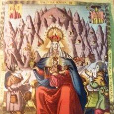 Coleccionismo de carteles: PRECIOSO CARTEL LAMINA CALENDARIO LITURGICO DE MONTSERRAT 1946 35 / 24 CM . PAPEL GRUESO . Lote 50341787