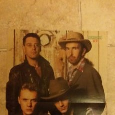 Coleccionismo de carteles: DOBLE POSTER, U2 Y EDDIE MURPHY DE LA REVISTA POPCORN. TAMAÑO 40X29 CM. Lote 50504098