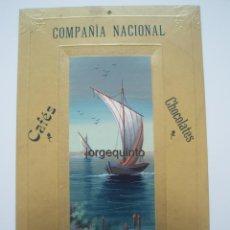 Coleccionismo de carteles: CARTEL PUBLICITARIO. COMPAÑIA NACIONAL, CHOCOLATES, CAFES, MADRID.. Lote 50711931