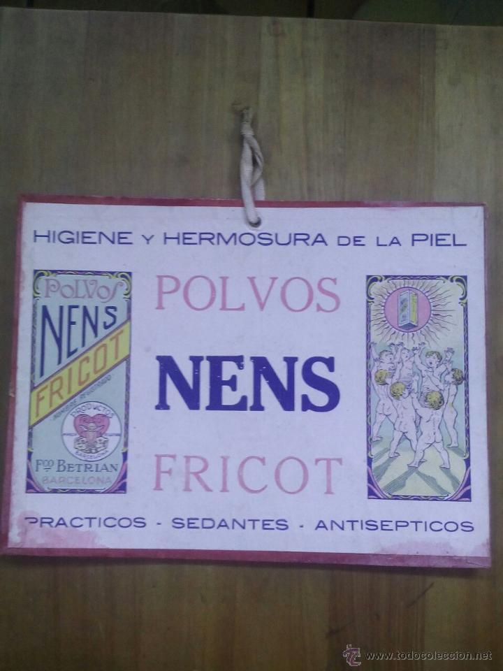 CARTEL POLVOS NENS / FRICOT / FRANCISCO BERTRAN / BARCELONA / AÑOS 30 (Coleccionismo - Carteles Pequeño Formato)