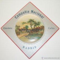 Coleccionismo de carteles: CARTEL PUBLICITARIO. COMPAÑIA NACIONAL, CHOCOLATES, CAFES, MADRID.. Lote 50710901