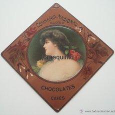 Coleccionismo de carteles: CARTEL PUBLICITARIO. COMPAÑIA NACIONAL, CHOCOLATES, CAFES, MADRID.. Lote 50710924