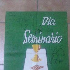 Coleccionismo de carteles: CARTEL DIA DEL SEMINARIO 1959 - ¡¡¡RARÍSIMO!!!. Lote 51051842