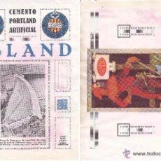 Coleccionismo de carteles: LITOGRAFIA AÑOS 20 - SANITAS – CEMENTO ASLAND. Lote 51058229
