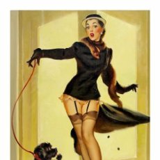 Coleccionismo de carteles: PIN UP SKIRTING. LÁMINA CARTEL DE 45 X 32 CMS.. Lote 57035845