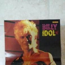 Coleccionismo de carteles: DOBLE POSTER, BILLY IDOL Y PET SHOP BOYS DE LA REVISTA POPCORN. TAMAÑO 40X29 CM. Lote 51131321
