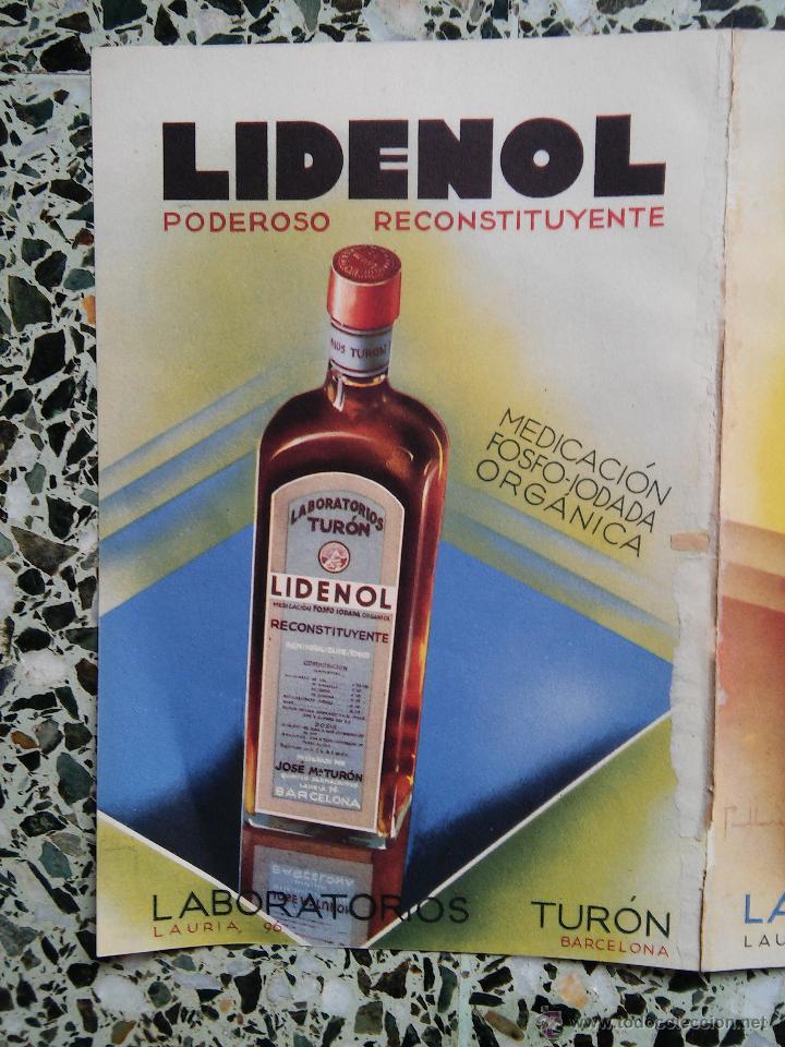Coleccionismo de carteles: PUBLICIDAD MEDICAMENTOS ANTIGUOS - NEURUNAL - LIDENOL - FOSFORAL - FEMILCAL - LABORATORIO TURON - - Foto 4 - 51222849