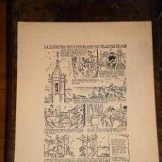 Coleccionismo de carteles: LA LEYENDA DE LOS CUELGA ASNOS DE VILASSAR DE MAR - FIESTA MAYOR 1975 -EN IDIOMA CATALAN. Lote 51225906