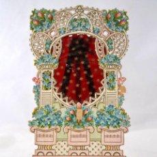 Coleccionismo de carteles: ANTIGUO CARTEL CROMO DE CARTON TROQUELADO * VENTANA * 21CM X 12CM. Lote 51659646