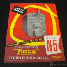 Coleccionismo de carteles: CARTEL ROCA SERIE N-5 / NUEVO MODELO / COMPAÑIA ROCA-RADIADORES. Lote 51688803