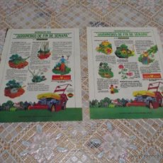Coleccionismo de carteles: LOTE DE 2 HOJAS DE REVISTA 1977 - JARDINEROS DE FIN DE SEMANA Nº 1 Y 3 OUTILS WOLF. Lote 52282095