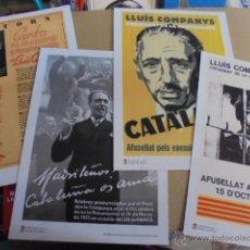 Coleccionismo de carteles: LOTE 4 POSTER LLUIS COMPANYS - CATALUNYA - NERUDA - MADRID - A ESTRENAR DE KIOSKO - ENVIO GRATIS. Lote 52456859