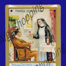 Coleccionismo de carteles: CARTEL PUBLICITARIO FABRICADO EN METAL - VINO PARA ENFERMOS Y CON VALECIENTES - 17 X 12 CM. Lote 52485656
