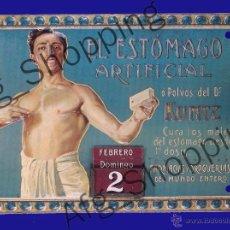 Coleccionismo de carteles: CARTEL PUBLICITARIO FABRICADO EN METAL - POLVOS DEL DR. KUNTZ - 17 X 12 CM. Lote 52486130