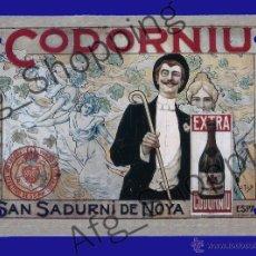 Coleccionismo de carteles: CARTEL PUBLICITARIO FABRICADO EN METAL - CODORNIU - 17 X 12 CM. Lote 52486216