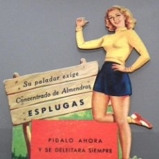 Coleccionismo de carteles: CARTEL DE CARTÓN TROQUELADO - PUBLICIDAD JARABES Y HORCHATAS ESPLUGAS, BARCELONA. Lote 52835629