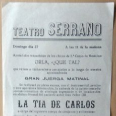 Coleccionismo de carteles: CARTEL TEATRO SERRANO. Lote 53445166
