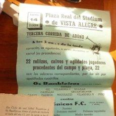 Coleccionismo de carteles: CURIOSO CARTEL STADIUM VISTA ALEGRE CLUB FUTBOL OS RAMBLEIROS NEUROTICOS CASINO GERUNDENSE GERONA. Lote 53514541