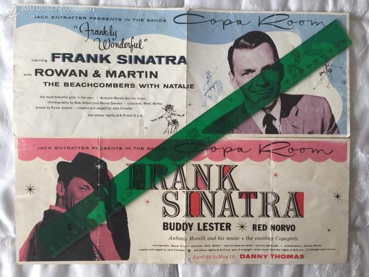 FRANK SINATRA-2 PROGRAMAS DE MANO -ACTUACIÓN EN COPA ROOM- LAS VEGAS 1957-1963. (Coleccionismo - Carteles Pequeño Formato)