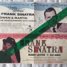Coleccionismo de carteles: FRANK SINATRA-2 PROGRAMAS DE MANO -ACTUACIÓN EN COPA ROOM- LAS VEGAS 1957-1963.. Lote 53518953