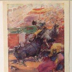 Coleccionismo de carteles: ZARAGOZA. TOROS. GUERRA CIVIL 1938. HOMENAJE A LOS PUEBLOS DE LA PROVINCIA RECIENTEMENTE LIBERADOS. . Lote 55042969