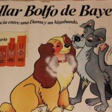 Coleccionismo de carteles: CARTEL DE DISNEY CON PUBLICIDAD DE COLLAR BOLFO DE BAYER-AÑO 1982. Lote 53868088